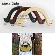 5 par = 10 sztuk 22*11 cm kąt wiatru rękojeść z drewna z litego drewna 3 kolory popularne uchwyty do ręcznie robione torby drewniana torebka uchwyty torby tanie tanio Wooden Purse Bag Handle Maxis Opia
