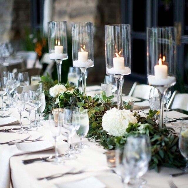 549 13 12 Pieces 60 Cm En Cristal Decoratif De Mariage Centres De Table Pour Les Mariages Vase Bougie Dans Bougeoirs De Maison Jardin Sur