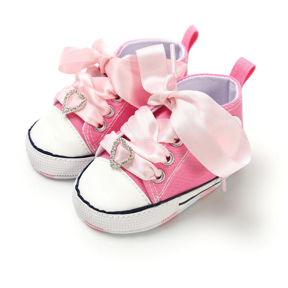 New Canvas Newborn Baby Shoes First Walkers Infant Toddler Soft Sole Anti-slip Shoes Boys Girls Footwear 25 Colors