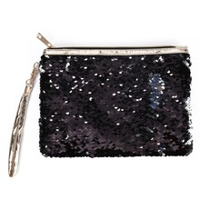 все цены на 2019 New Sequins Pencil Case Cosmetic Coin Pouch Storage Zipper Purse Makeup Bag онлайн