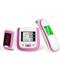 Yongrow LCD Wrist Blood Pressure Monitor & LED Fingertip Pulse Oximeter & Baby Ear Infrared Thermometer Family Health Care Gift