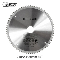 XCAN 1pcs 8 1 4 Inch 210 2 4 30mm 80Teeth TCT Saw Blade General Purpose