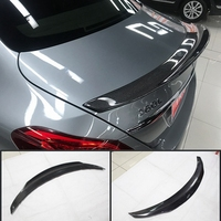 For Mercedes W205 PSM Style spoiler Carbon Fiber Rear Spoiler Wing C Class Sedan 2015 + C180 C200 C250 C300 C400