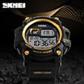 Moda deportes para hombre relojes de buceo 50 m electrónica digital led reloj militar hombres moda casual reloj marca skmei reloj caliente