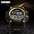 Moda esportes dos homens relógios de mergulho 50 m eletrônica digital led militar assista men moda casual relógio relógio de pulso da marca hot skmei