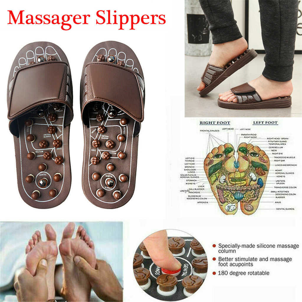 Reflex Foot Massage Sandals Slippers Shoe Foot Massager Soft Pain Relief Four Seasons Deodorization Antiseptic Health Care Gifts