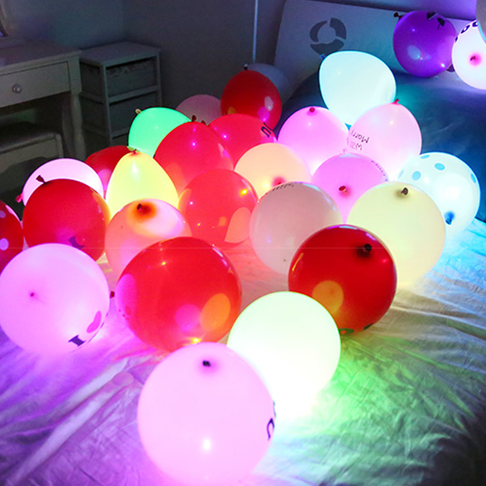 100 Pcs/lot Round Ball Led Balloon Lights Mini Flash Lamps For Lantern Christmas Wedding Party Decor Accessories Balloon Lights