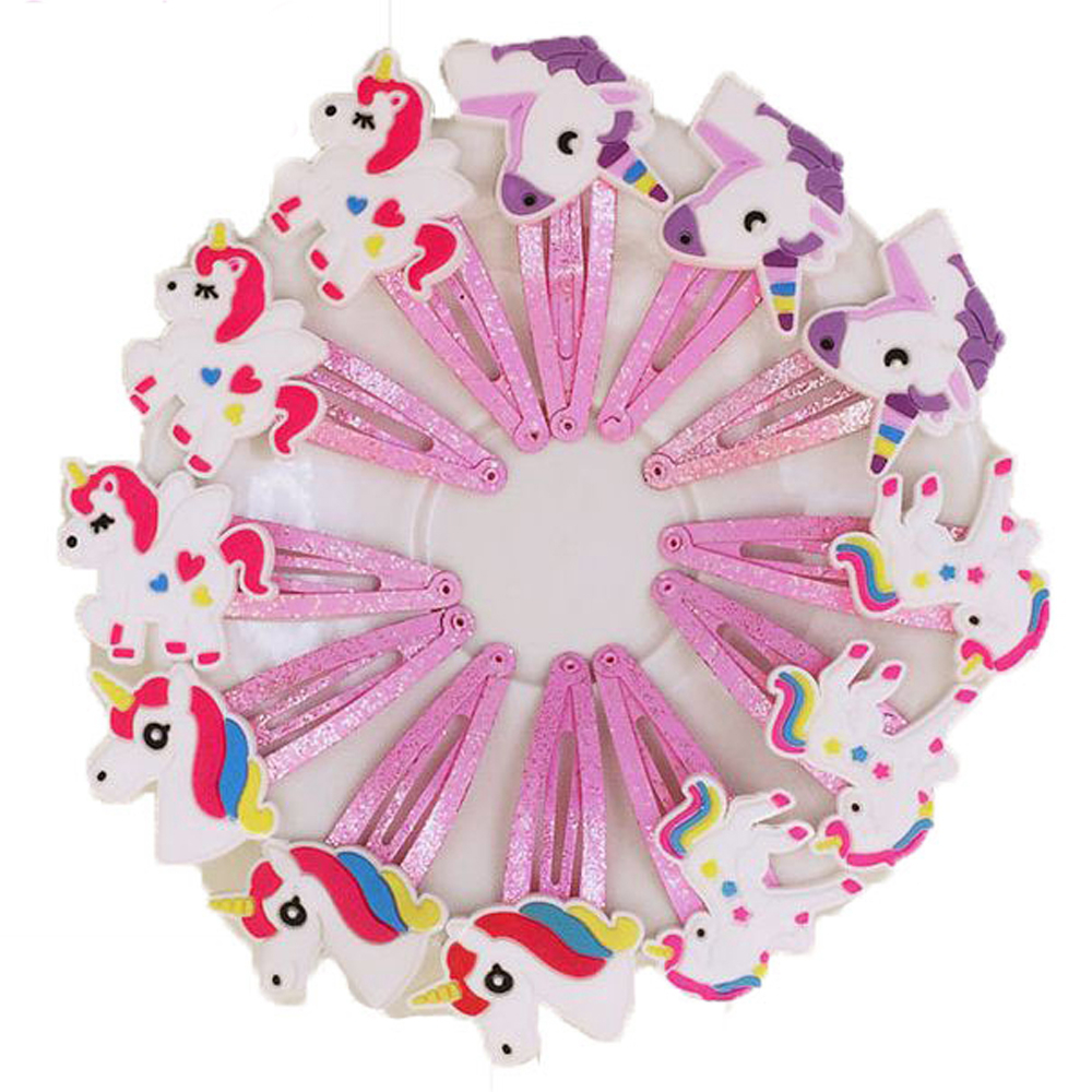 1/2PCs Glitter Unicorn Hair Cllips Cute Cartoon Animal School Kids Bobby Pin Hair Styling Accessories Fashion   Headwear   Wholesale
