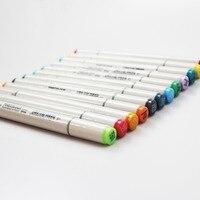 Finecolour 160 полный цвета двуглавый маркеры для набросков и рисунков спиртовой основе чернила живопись Кисть ручка