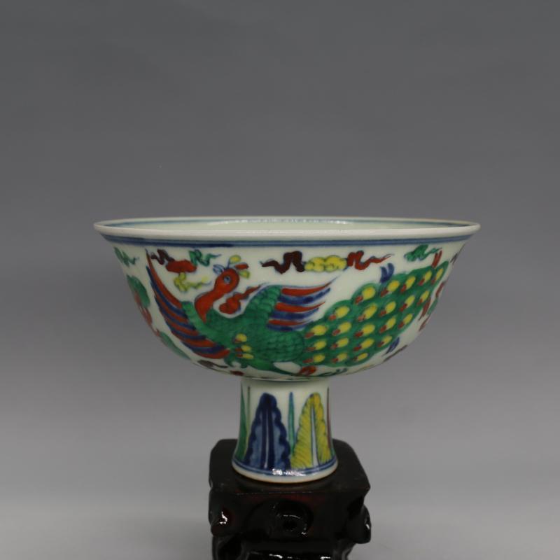 ộ_ộ ༽Tazón de fuente antiguo de la porcelana de mingdynasty, color ...