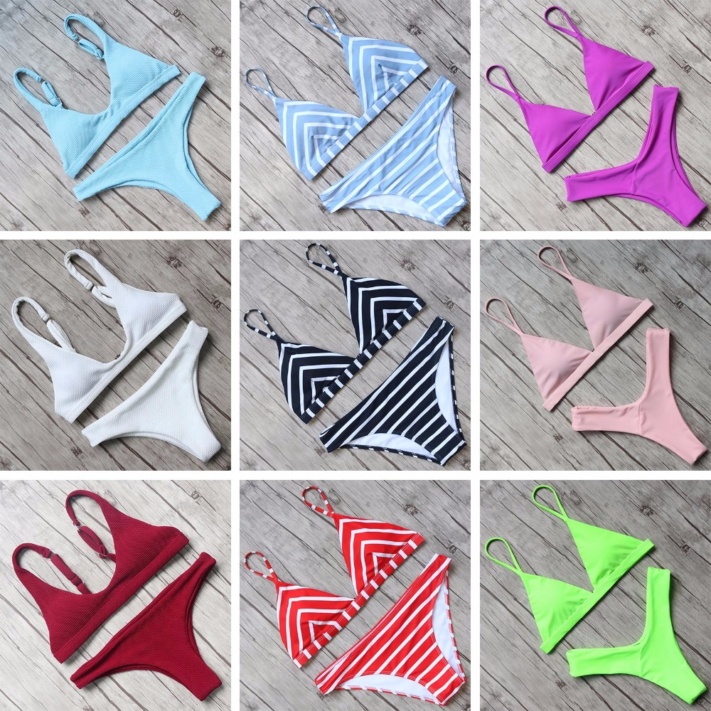 RUUHEE Bikini 2018 Sexy Swimsuit Women Halter Bandage Swimwear Female Thong Bikini Set Push Up Bathing Suit Beach Suit with Pad ariel sarah bandage bikini floral swimsuit sexy swimwear women 2018 halter girl bikini set bathing suit beach wear monokini