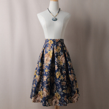 High Street Women Pleated Skirts Spring Autumn Vintage Waist Knee Length Office Workwear Flared Skirt