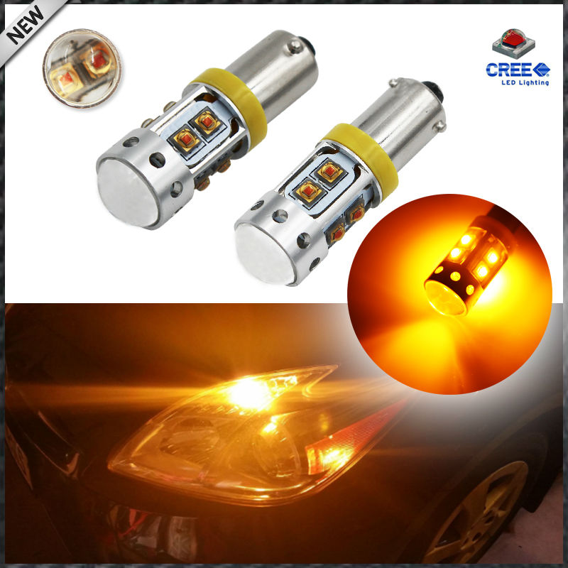 2pcs High Power 50W Amber Yellow 10-CRE'E XB-D BAX9S H6W T4W LED Bulbs For Car Parking Light /DRL/Front rear Turn Signal lights ijdm amber yellow error free bau15s 7507 py21w 1156py xbd led bulbs for front turn signal lights bau15s led 12v