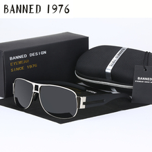 BANNED 1976 Brand Unisex Retro Aluminum Sunglasses Polarized Lens Vintage Eyewear Accessories Driving Sun Glasses For Men/Women