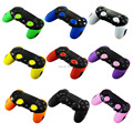 IVYQUEEN Soft Silicone Thicker Half Skin Case Cover and Thumb Stick Grips for Playstation Dualshock 4 PS4 Pro Slim Controller