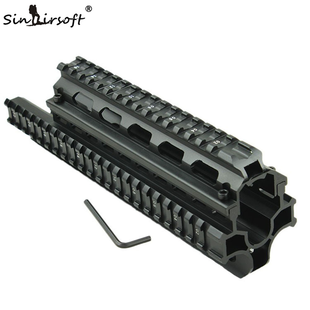 Sinairsoft AKs Saiga 7.62x39 Tactical Quad Rail with 8 pcs Rail Covers Free Shipping free shipping saiga12 tactical quad rail system fits saiga 12 ga and compatible variants free black rubber guards