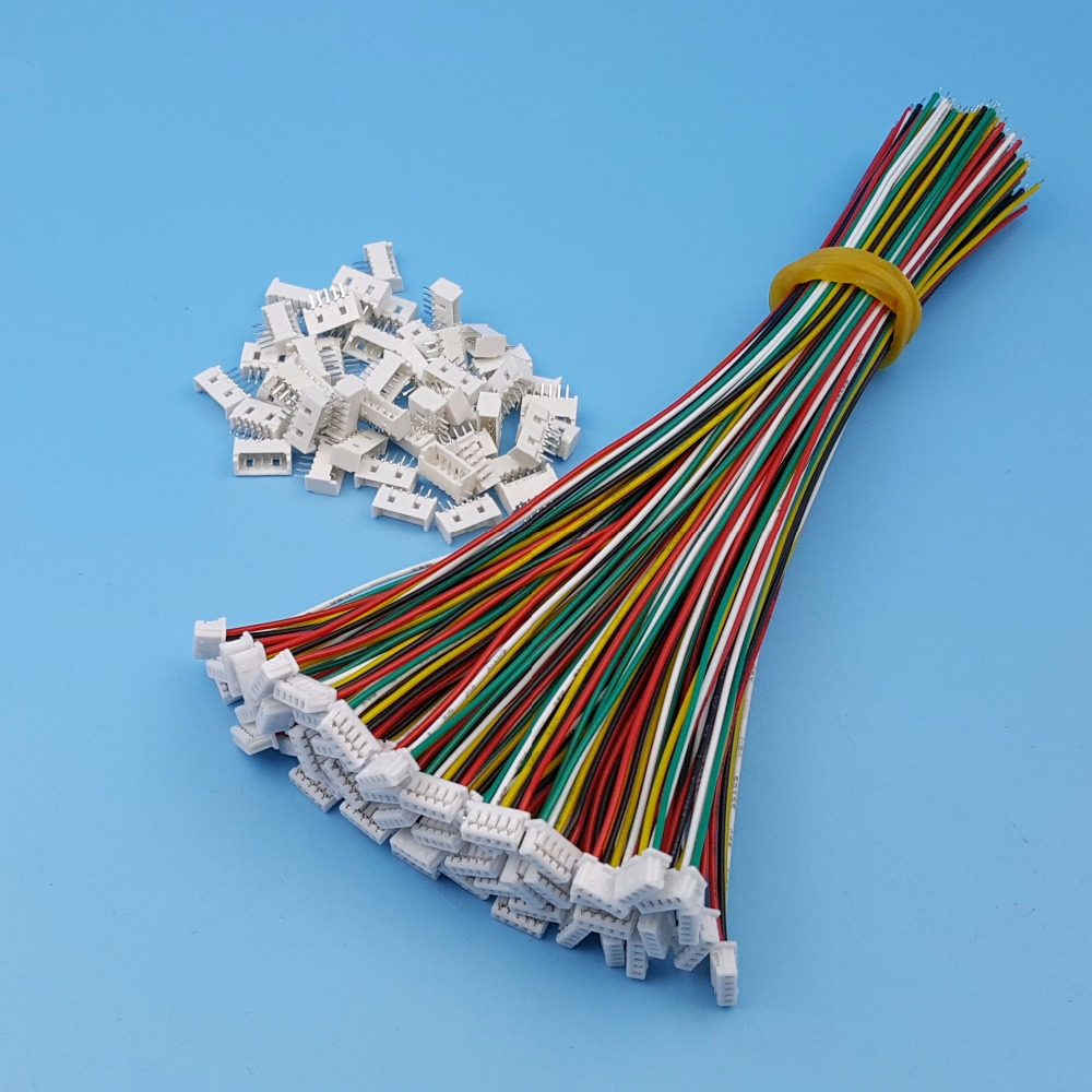 50Sets 5Pin <font><b>Micro</b></font> <font><b>JST</b></font> Pitch <font><b>1.25mm</b></font> Single Head 15cm 28AWG Wire To Board Connector image