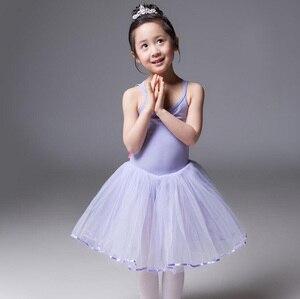 Image 5 - Robe de danse de Ballet pour filles, jupe de danse blanche, pour enfants, gilet, justaucorps, exercices quotidiens, haute qualité, Ballet en coton, nouveauté 2020