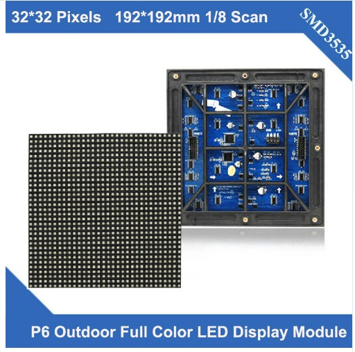 P6 outdoor module PANEL 192X192mm 32X32 pixels 1/8 scan full color p6 led module for outdoor led display screen led video wallP6 outdoor module PANEL 192X192mm 32X32 pixels 1/8 scan full color p6 led module for outdoor led display screen led video wall