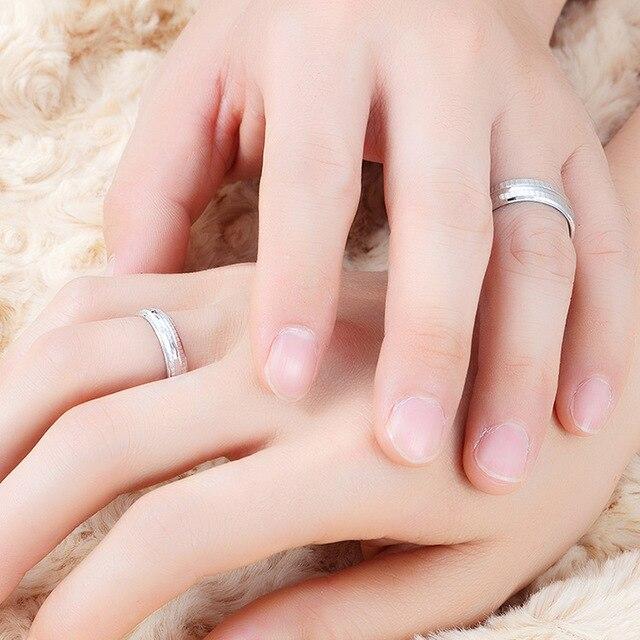 Paar Verlobung Hochzeit Ringe Frauen Männer Braut Anel Casamento ...