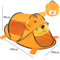 3 Colors Portable Game House Cartoon Tiger Kids Toy Tent Children Indoor Outdoor Playing House Folding