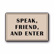 SPEAK FRIEND AND ENTER Doormats Non Slip Durable Machine-washable Home Indoors Outdoors Doormat Mats