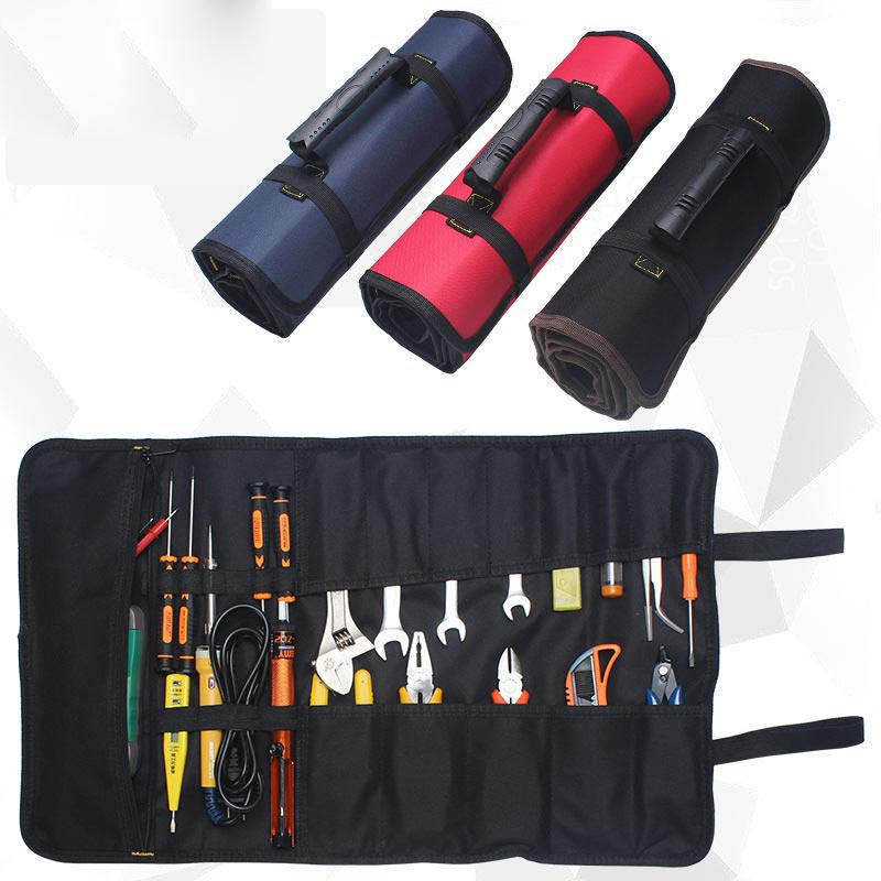 Dragonpad Car Repair Tools Bag 600D Oxford Cloth Tool Roll Pouch Electric Hardware Tools Handbag