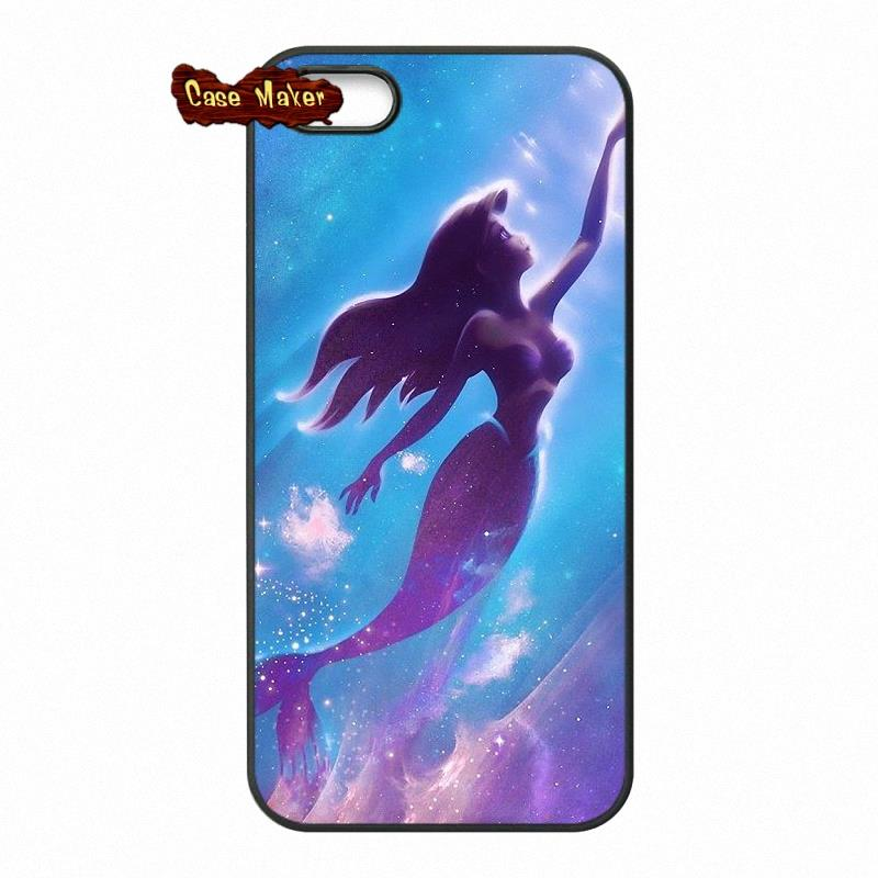 reputable site 9a18c ed204 US $4.96 |Tattoo Ariel The Little Mermaid Phone Case Cover For iPhone X 4  4S 5 5C SE 6 6S 7 8 Plus Galaxy J5 J3 A5 A3 2016 S5 S7 S6 Edge-in ...