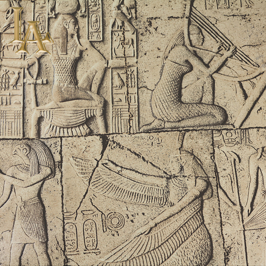 Ancient Egyptian Wallpaper 3D Vinyl Waterproof Deep Embossed PVC Wall paper Living room Bedroom Vintage Home Decor W166