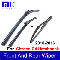 Wiper Blades For Citroen C4 Hatchback 2010onwards Front And Rear Wiper Arms Windshield Windscreen Wipers Auto