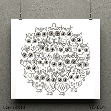 AZSG Cute Owl/Fat Owl Clear Stamps For Scrapbooking DIY Clip Art /Card Making Decoration Crafts