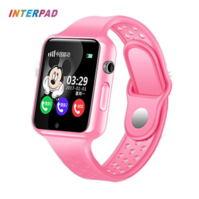 Interpad GPS Bluetoot Smart Watch For Kids Boy Girl Apple Android Phone Support SIM Card Smart