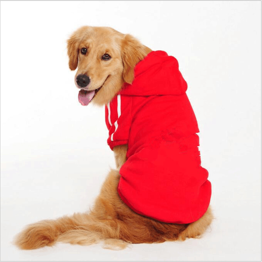 Big Dog Clothes Coats For Dogs Golden Retriever Clothing Large Size Winter Warm Dogs Jacket Hoodie Apparel Cotton Sportswear in Dog Coats Jackets from Home Garden