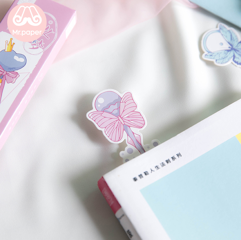 Mr Paper 30pcs/box Cartoon Dreamy Pink Fairy Wand Irregular Bookmarks for Novelty Book Reading Maker Page Paper Bookmarks Gifts 5