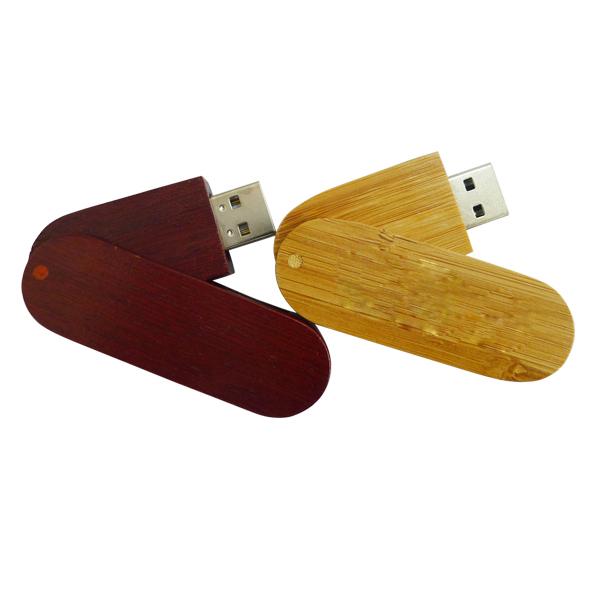 Frete grátis usb giratória disco flash usb 2.0 de madeira de alta capacidade de 64 gb usb flash drive