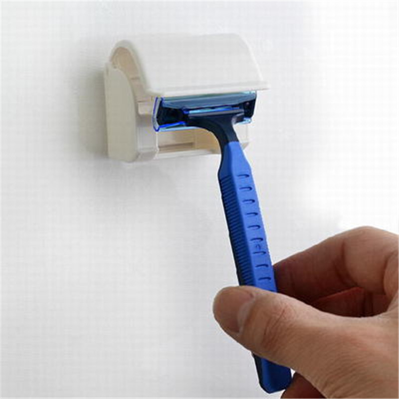 Étagère pour rasoir pour hommes, support pour rasoir en plastique, pour aspiration à support de verre supports de suspension, outils de salle de bains, livraison gratuite, 1 pièce