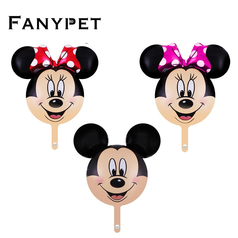 8pcs/lot mini Minnie Mickey head balloon Cartoon Birthday Party Wedding baby shower decorations childrens toys globos
