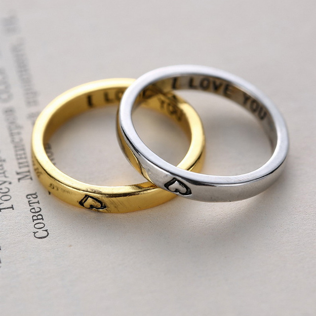 Dunhuang Ebay Selling Valentineu0027s Day Jewelry Manufacturers, Wholesale  Trade Rings Couple Rings The Name Of