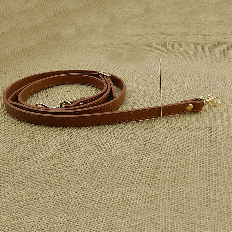 120cm Leather Shoulder Bag Strap Handle Silver Buckle Bag Accessories for DIY Crossbody Bags Adjustable Belt Handle Replacement