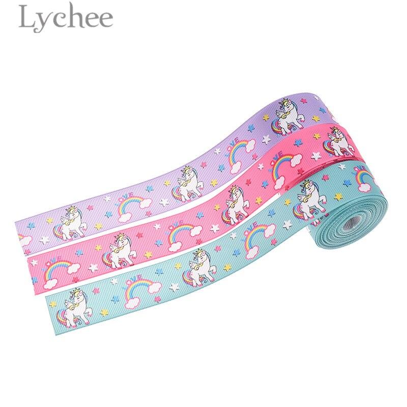 Радужная лента Lychee Life, 5 ярдов, мультяшная лента, материалы для шитья DIY