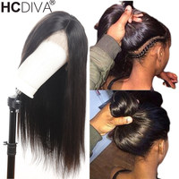 360 Lace Frontal Wig For Black Women Brazilian Straight Lace Front Human Hair Wig Pre Plucked With Baby Hair 150% Remy Lace Hair