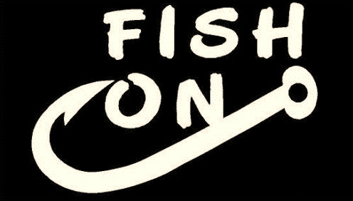 Online Shop Details About WHITE Vinyl Decal Fish On Fishing Hook - Vinyl fish decals for boats