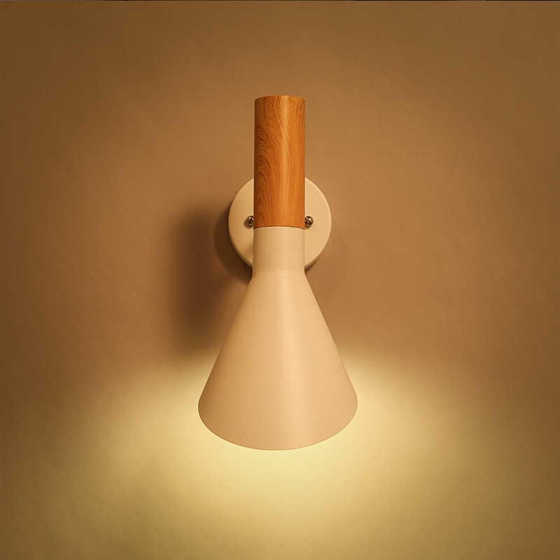 Современные реплики Bedside полезно узнать туалетное зеркало E27 светодиодный Арне Якобсен дерева как Настенные светильники творческий AJ гладить настенный светильник бра Спальня
