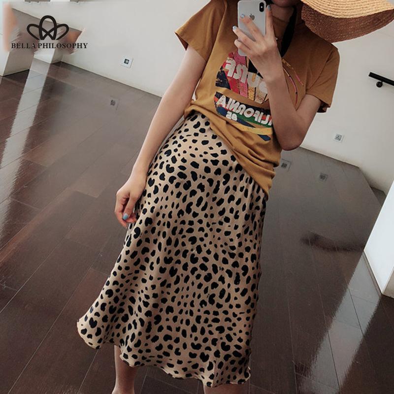Bella Philosophy Summer 2019 Kawaii Boho Bodycon Leopard Print High Waist Skirts Womens Midi Leopard Skirt Punk Streetwear