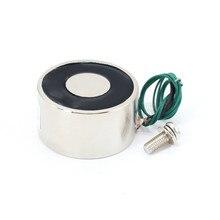 Mini eletroímã solenóide, mini solenóide elétrico com sucção de 50/27mm, 50kg, 500n, dc 5v/12 v/24v eletro ímã forte suporte copo diy 12 v