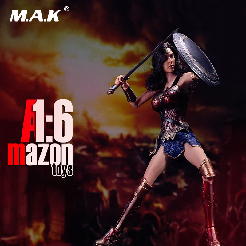 1/6 Scale Scale Female Full Set Wonder Woman Mode Toys included Head & Body & Clothes Set for Collection Gift