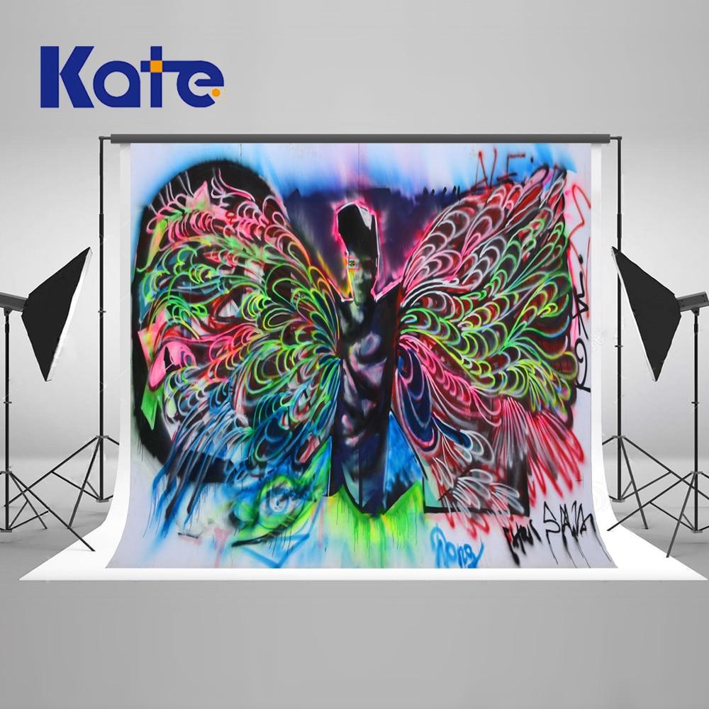 KATE Photography Backdrops 10X10Ft Graffiti Background Children Photo Background Halloween Backdrop Kate Space