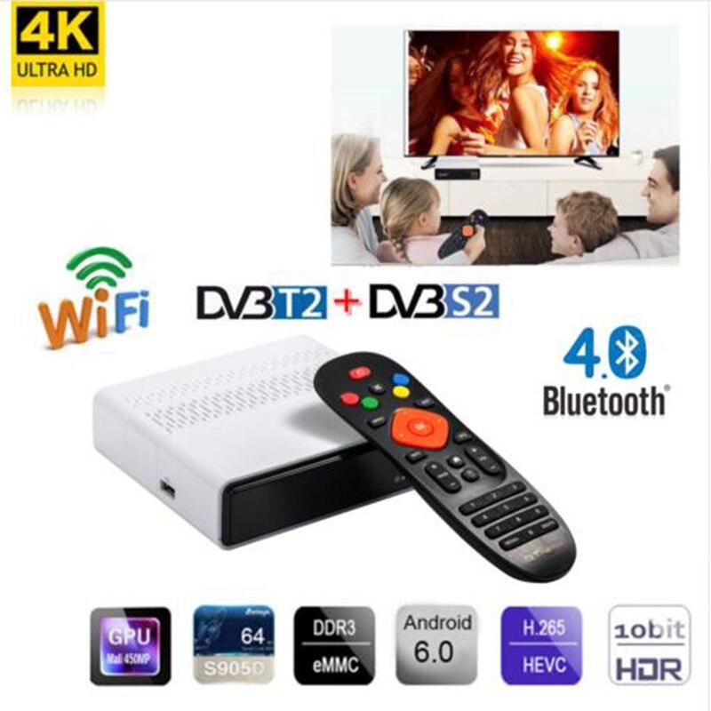 Freesat GTmedia GTS Android 6.0 Receptor DVB-S2 HD Satellite TV Receiver + 1 Year IPTV+Built-in WIFI Decoder PK X96MIMI TV BOX
