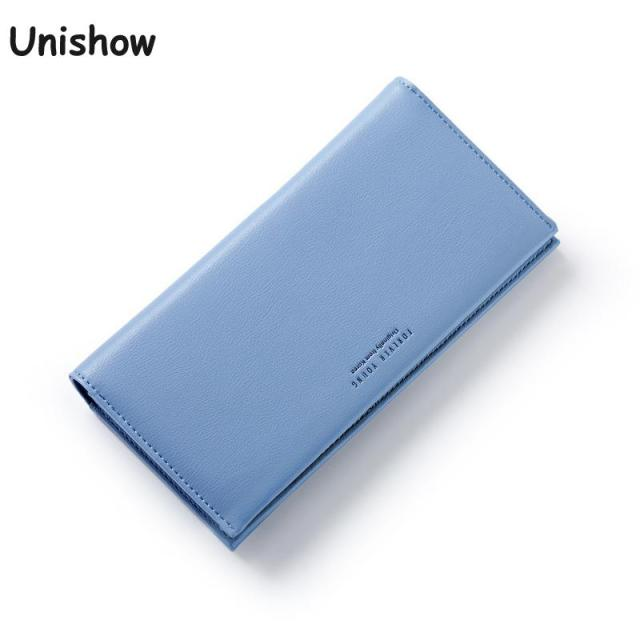 Unishow Elegant Wallet Women Luxury Brand Women Purse Fashion Women Long Wallet Female Purse Clutch With Zipper Coin Bag