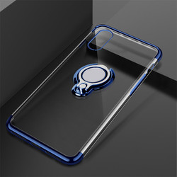 Luxury Phone For Clear Case On iPhone X Cover Cases Bags Coque Slim For Silicone Case iPhone X Ring Kickstand Black 6